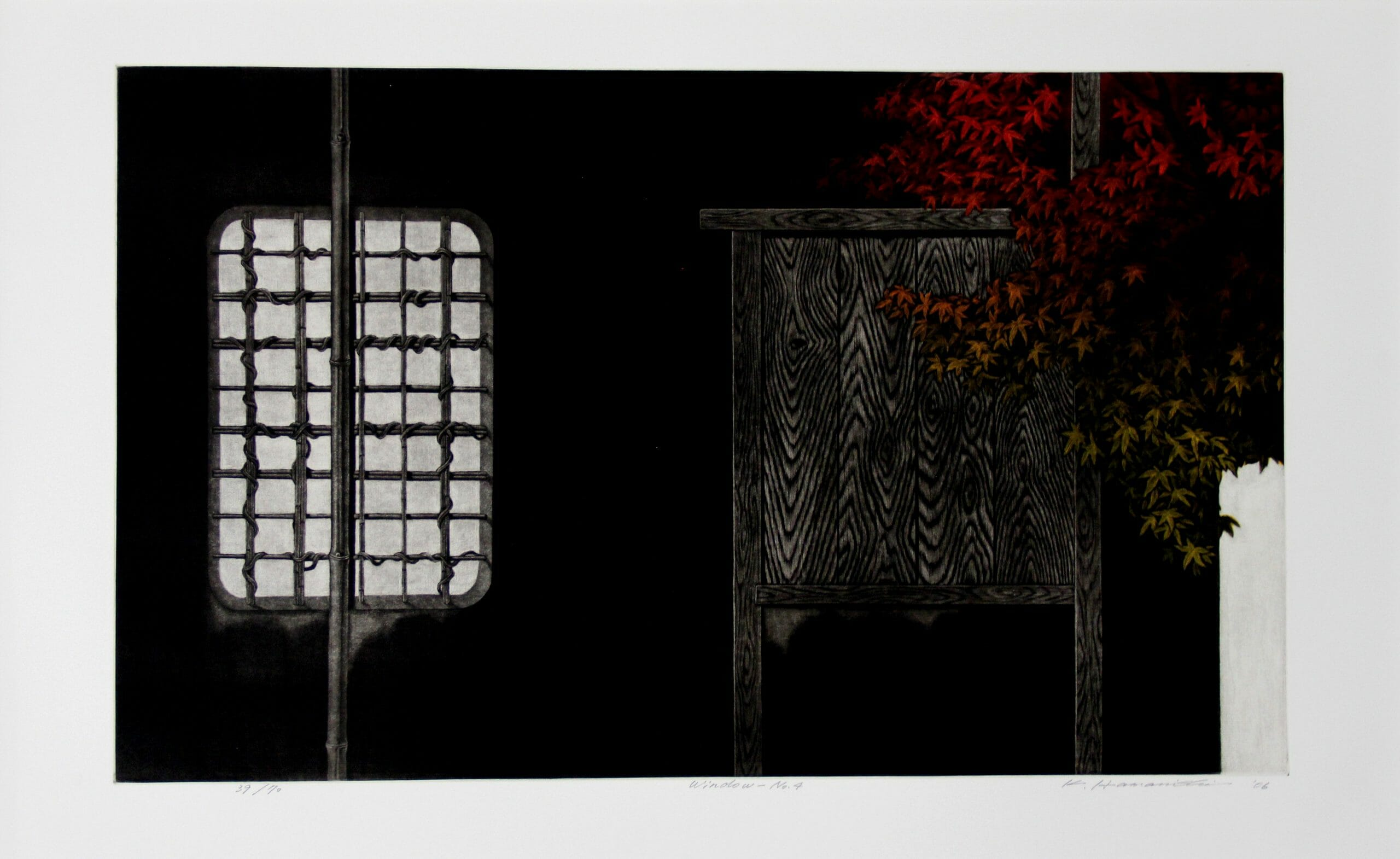 Hamanishi Katsunori Window No 439 of 70 Mezzotint_