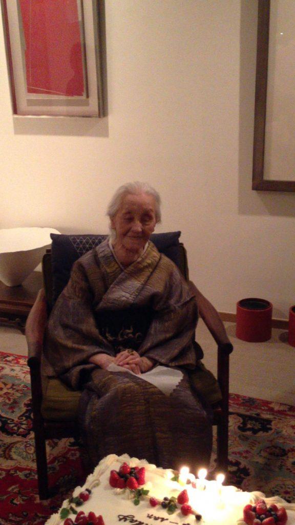 Toko Shinoda & Guests at her 100th Birthday Celebrations